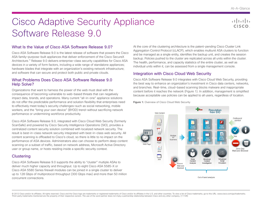 Cisco Adaptive Security Appliance Software Release 9 0 At-A-Glance
