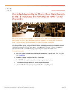 Controlled Availability for Cisco Cloud Web Security