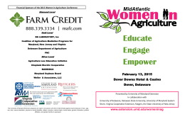 Educate Engage Financial Sponsors of the 2015 Women In Agriculture Conference Diamond Level