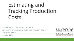Estimating and Tracking Production Costs