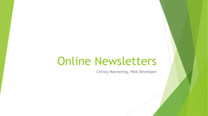 Online Newsletters Christy Mannering, Web Developer