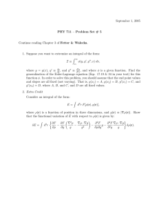 September 1, 2005 PHY 711 – Problem Set # 5