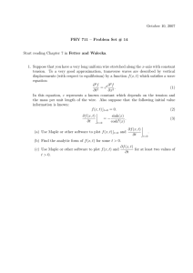 October 10, 2007 PHY 711 – Problem Set # 14 x