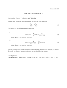 October 6, 2008 PHY 711 – Problem Set # 14