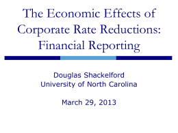 The Economic Effects of Corporate Rate Reductions: Financial Reporting
