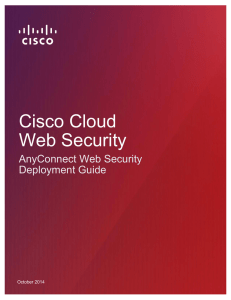 Cisco Cloud Web Security AnyConnect Web Security Deployment Guide