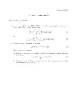 February 7, 2001 PHY 712 – Problem Set # 9