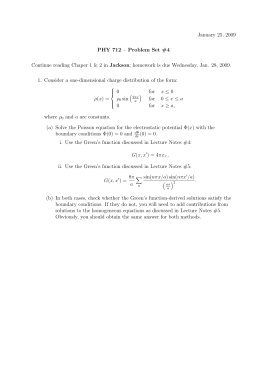 January 25, 2009 PHY 712 – Problem Set #4