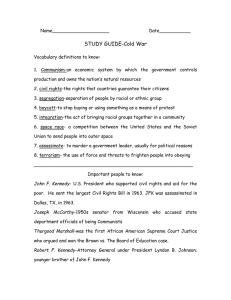 STUDY GUIDE-Cold War