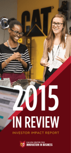 2015 IN REVIEW INVESTOR IMPACT REPORT