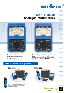 Analogue Multimeters MX 1 & MX 2B