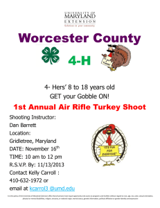 Worcester County 4-H 1st Annual Air Rifle Turkey Shoot