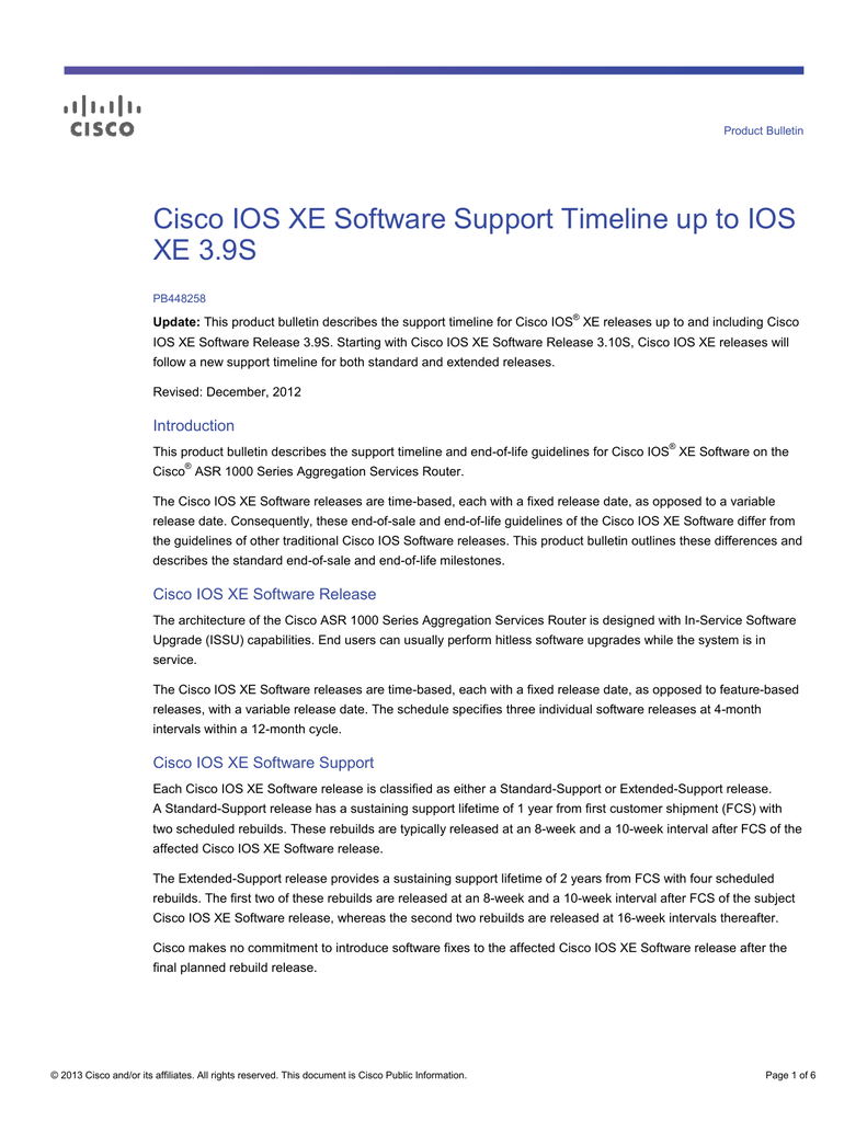Cisco Ios Xe Release 3S — Totoku