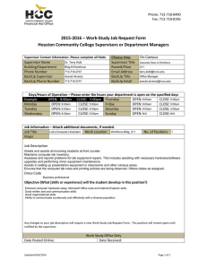 2015-2016 – Work-Study Job Request Form