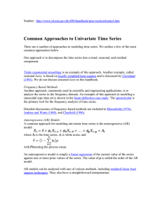 Common Approaches to Univariate Time Series