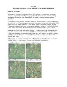 Lesson 1 Geospatial Information Systems and Their Use in Nutrient Management
