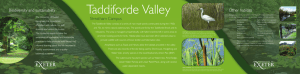 Taddiforde Valley Streatham Campus Biodiversity and sustainability Other habitats