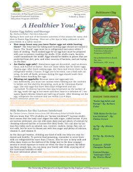 A Healthier You! Easter Egg Safety and Storage