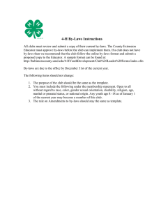 4-H By-Laws Instructions