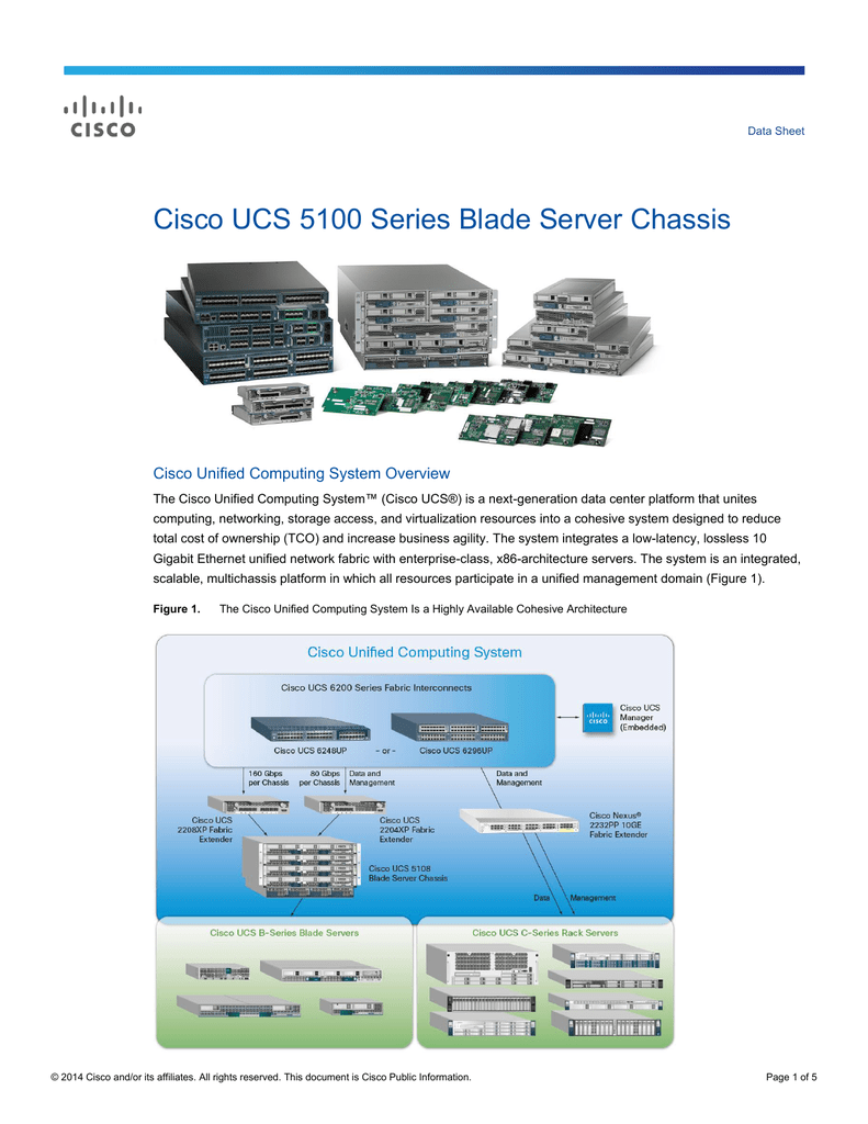 Cisco UCS 5100 Series Blade Server Chassis