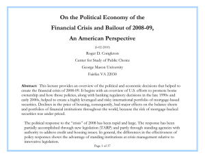 On the Political Economy of the An American Perspective