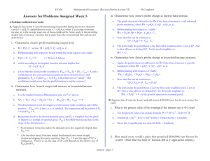 Answers for Problems Assigned Week 5