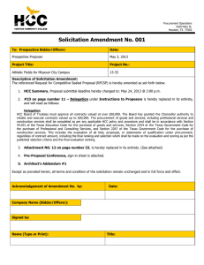 Solicitation Amendment No. 001