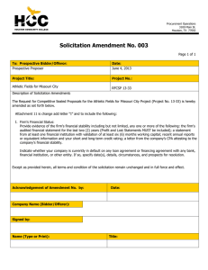 Solicitation Amendment No. 003