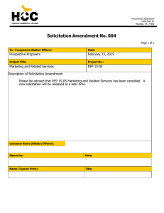 Solicitation Amendment No. 004