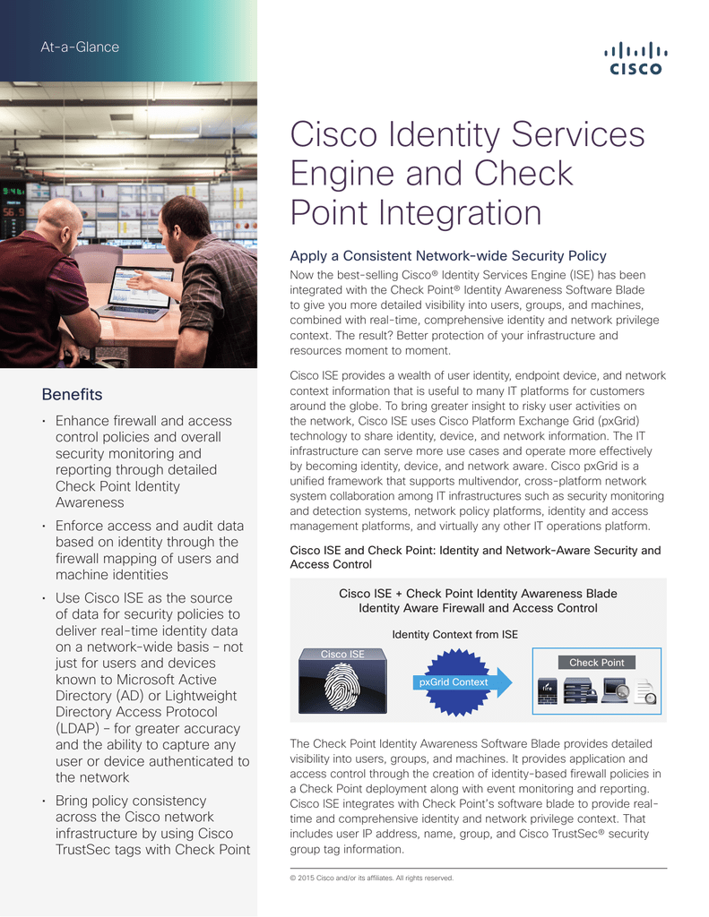 Cisco Identity Services Engine and Check Point Integration