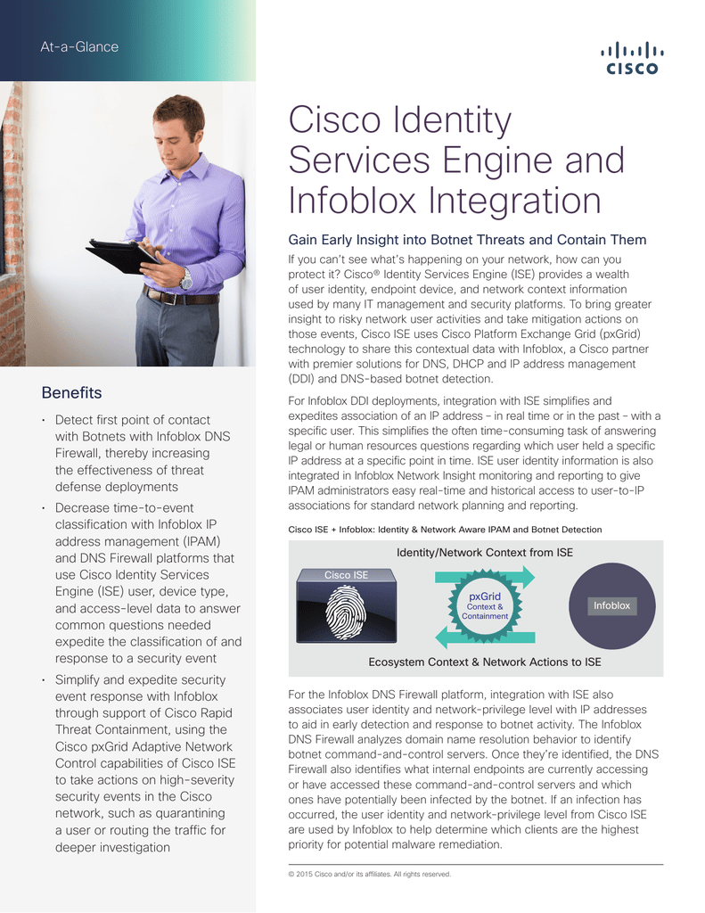 Cisco Identity Services Engine and Infoblox Integration At-a