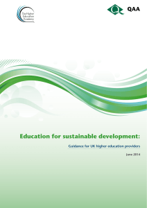 Education for sustainable development: Guidance for UK higher education providers June 2014