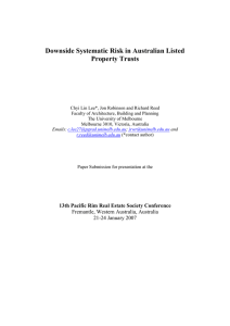 Downside Systematic Risk in Australian Listed Property Trusts