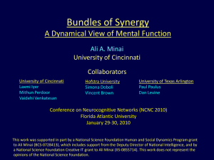 Bundles of Synergy A Dynamical View of Mental Function Ali A. Minai
