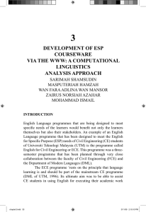 3 DEVELOPMENT OF ESP COURSEWARE VIA THE WWW: A COMPUTATIONAL