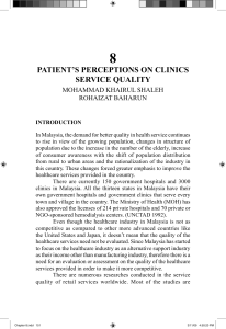 8 PATIENT'S PERCEPTIONS ON CLINICS SERVICE QUALITY MOHAMMAD KHAIRUL SHALEH