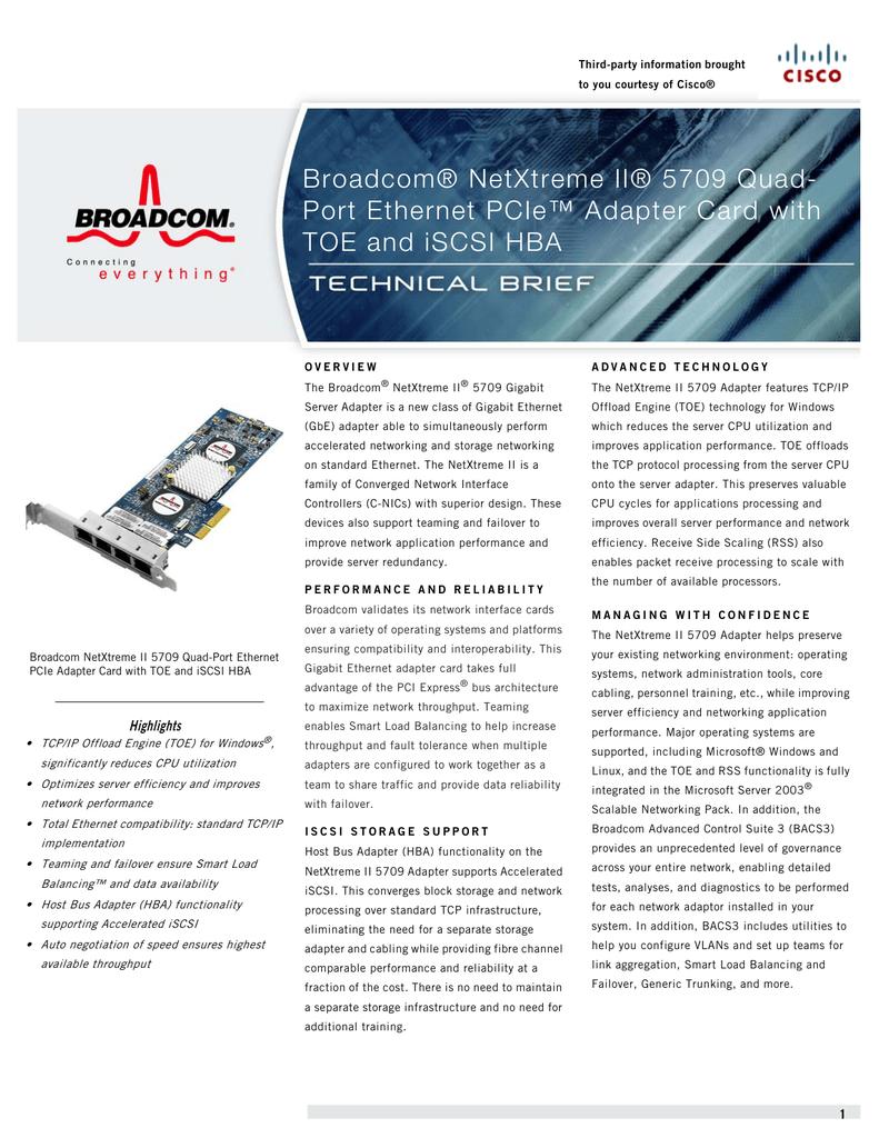 BROADCOM NETXTREME II C NIC ISCSI DRIVERS FOR WINDOWS DOWNLOAD