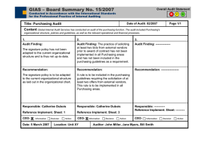 GIAS – Board Summary No. 15/2007 Overall Audit Statement