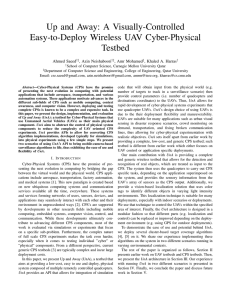 Up and Away: A Visually-Controlled Easy-to-Deploy Wireless UAV Cyber-Physical Testbed Ahmed Saeed