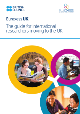 The guide for international researchers moving to the UK Euraxess UK