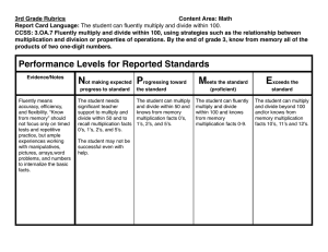 3rd Grade Rubrics Content Area: Math Report Card Language:
