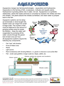 – aquaculture and hydroponics. Aquaponics merges two farming technologies