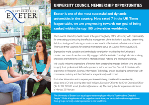 UNIVERSITY COUNCIL MEMBERSHIP OPPORTUNITIES