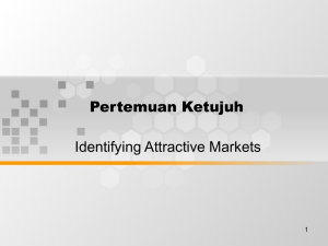 Pertemuan Ketujuh Identifying Attractive Markets 1
