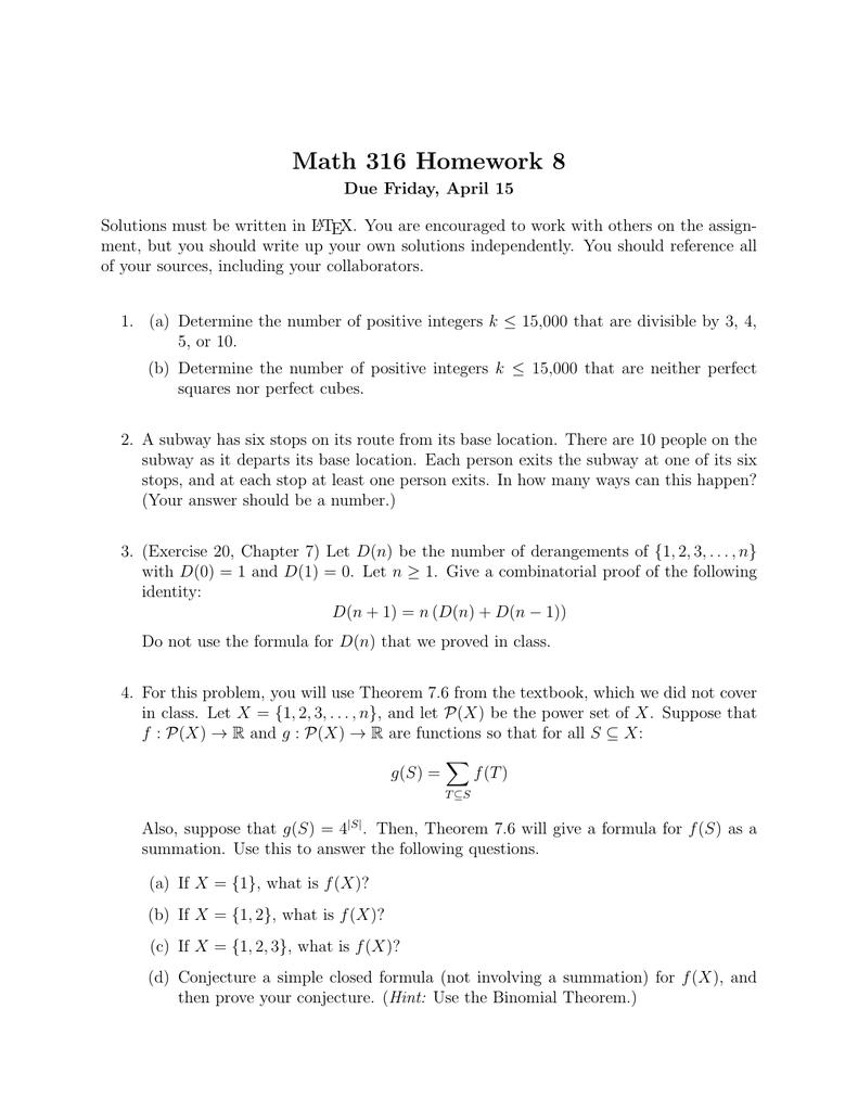 Math 316 Homework 8