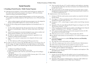 Social Security Political Economy of Public Policy