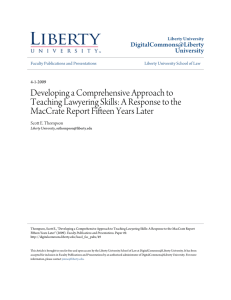 Developing a Comprehensive Approach to MacCrate Report Fifteen Years Later