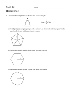 Math 141 Homework 3 Name: a