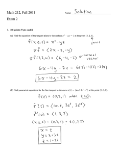 Math 212, Fall 2011 Exam 2