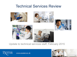 Technical Services Review Update to technical services staff, February 2015